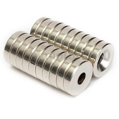 20PCS N50 Strong Countersunk Ring Magnets 12 x 3mm Hole 4mm Rare Earth Neodymium