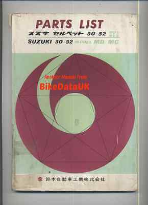 Suzuki Selped 50/52 MD/MC (1961-1962) Illustrated Parts List/Catalogue,Moped
