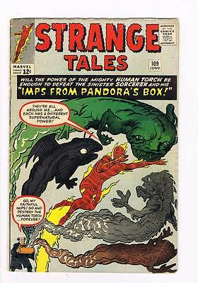 Strange Tales # 109 Human Torch Thing grade 4.0 super scarce book !!