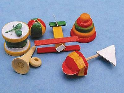 Dolls House Miniature : Set of Wooden Toys : 12th scale