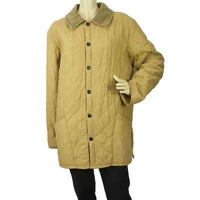 Barbour Eskdale Men or Women Beige Lightweight Classic Quilted Jacket  - Sz M