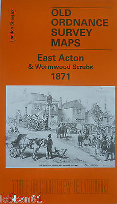 Old  Ordnance Survey Detailed Maps East Acton /& Wormwood Scrubs London 1894 S58