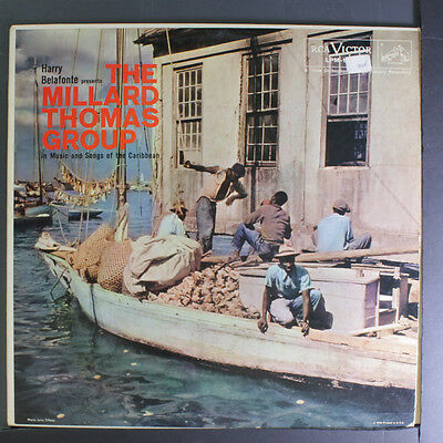 MILLARD THOMAS GROUP: In Music And Songs Of The Caribbean LP (Mono, small toc,
