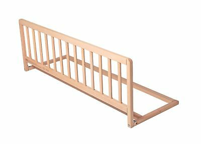 Safetots Childrens Wooden Bed Rail Deluxe Toddler Bed Guard Natural Wood