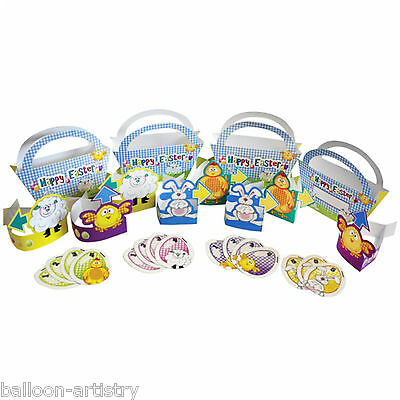 28 Piece Happy Easter Eggs Cutouts & Baskets Egg Hunt Party Game Set