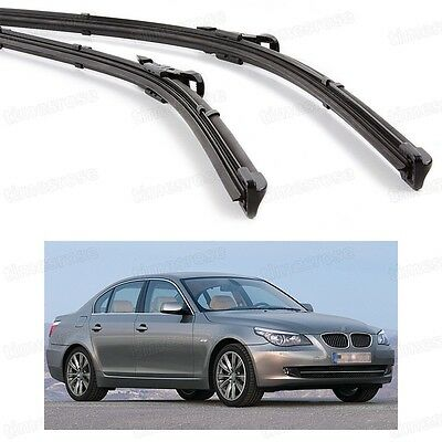 2Pcs Car Front Windshield Wiper Blade Bracketless for BMW 5-Series 2003-2009 E60