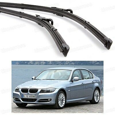 2Pcs Car Front Windshield Wiper Blade Bracketless for BMW 3-Series 2004-2009 E90