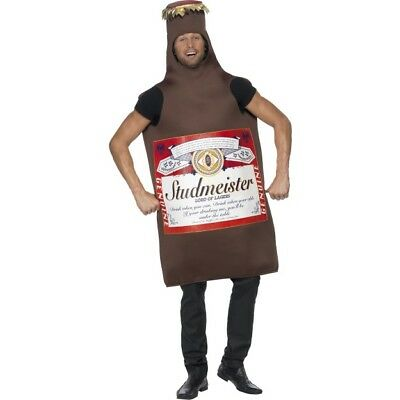 Comedy Beer Bottle Costume Stag Night Party Mens Funny Fancy Dress