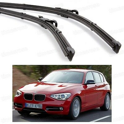 2Pcs Car Front Windshield Wiper Blade Bracketless for BMW 1-Series 2011-2015 F20