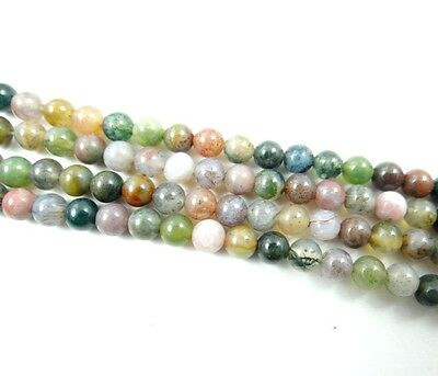 """Wholesale India agate Gemstone Round Loose Beads Jewelry 4 mm 15"""""""