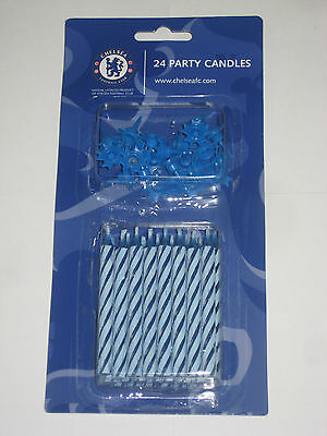 24 Chelsea FC Happy Birthday Candles  Cake Party Candles  99p & Free Post !!