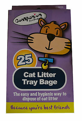2 packs of Cat Litter Tray bags Liners - 25 bags in each Pack