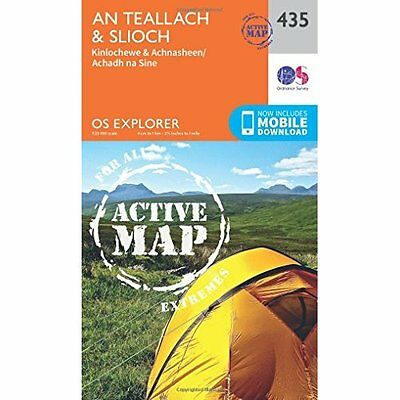 OS Explorer Map Active (435) An Teallach and Slioch (OS - Map NEW Ordnance Surve