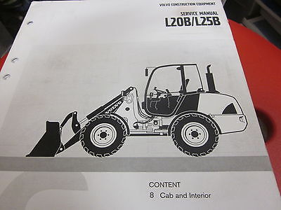 volvo l20b l25b wheel loader service manual cab & interior