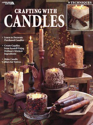 Crafting with Candles Leisure Arts #1820 Instruction Leaflet NEW 9 Techniques