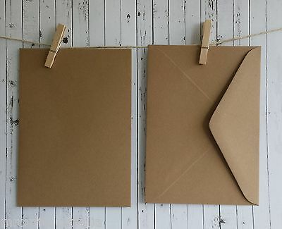 20 Envelopes 130mm x180mm BROWN KRAFT Quality  120gsm