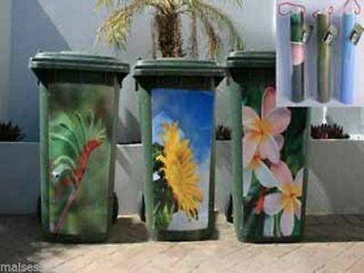 2 x Wheelie Bin Stickers floral design spruce up your bin