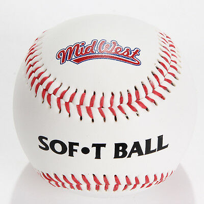 Midwest Sof-T Red & White Baseball Ball Official Size & Weight for League