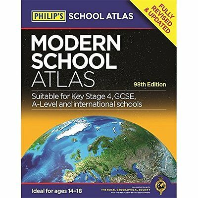 Philip's Modern School Atlas: 98th Edition (Philip's Sc - Paperback NEW Philips