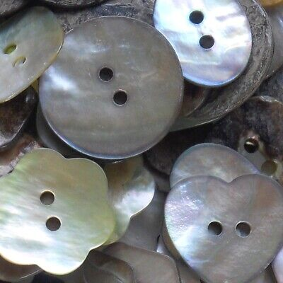 Mother Of Pearl Buttons -Choose Your Shape & Size X 10 Buttons