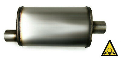 Universal Stainless steel straight-through perforated Performance Muffler 2""