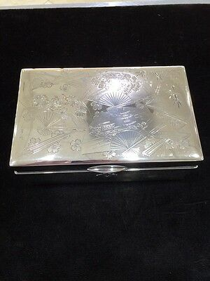 Japanese 950 Sterling Silver Jewelry Box LARGE/HEAVY
