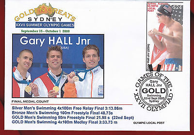 Australia 2000 Sydney Olympic, Local Post, Gary Hall Jnr, $24 stamp - one only