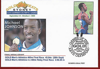 Australia 2000 Sydney Olympic, Local Post, Michael Johnson $20.00 One Stamp Only