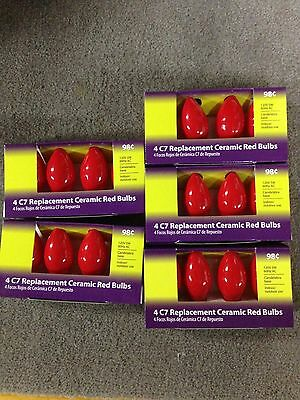 C7 light bulb Replacement Red Bulb indoor / outdoor lot of 20 Bulbs (5 Pack of 4