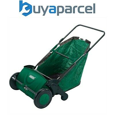 Draper 82754 Manual Push Rolling Garden Leaf Grass Sweeper Collector 21in