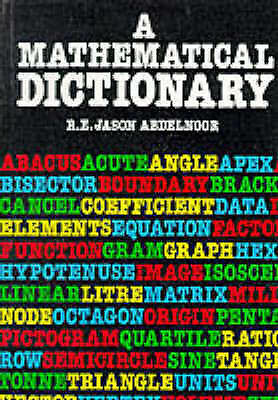 A Mathematical Dictionary by Nelson Thornes Ltd (Paperback, 1992)