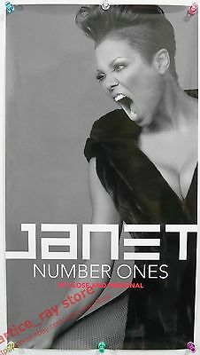 JANET JACKSON Number Ones Taiwan Promo Poster NEW