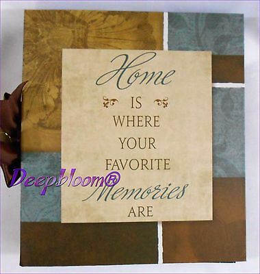 Photo Album Storage Holds 180 4 X 6 Photos - Home Is Where Memories Are  ... New