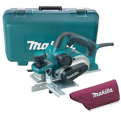 Makita KP0810K 82mm Heavy Duty Planer 850W 240v Includes Dust Bag, Carry Case