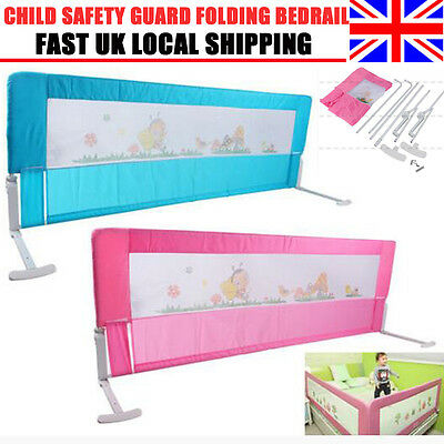 150/180cm  Kids Baby Cot Child Safety Bed Rail Bed Guard Protection Bedrail UK