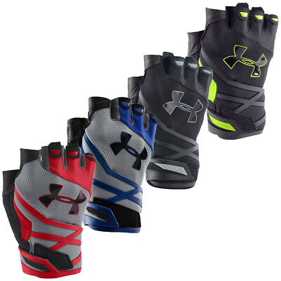 Under Armour 2017 Mens UA Resistor Training Gloves Support Gym Weight Lifting