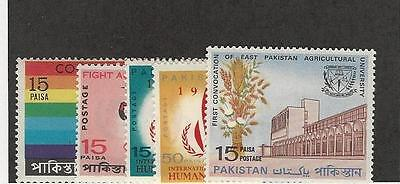 Pakistan, Postage Stamp, #245, 247-249, 250 Mint NH, 1967