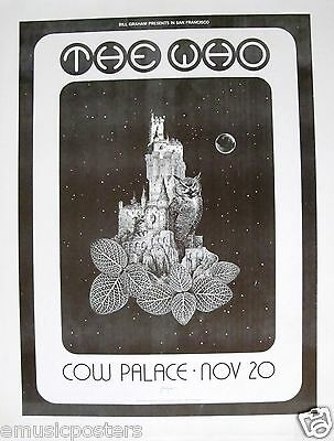 """THE WHO """"1973 TOUR - SAN FRANCISCO COW PALACE"""" CONCERT POSTER - Reproduction"""