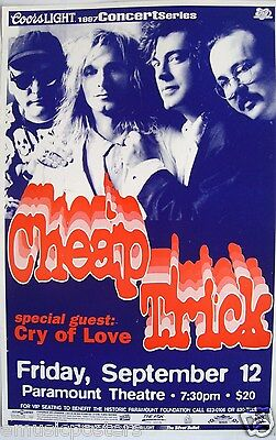 CHEAP TRICK /CRY OF LOVE 1997 DENVER CONCERT TOUR POSTER-Classic Rock Music