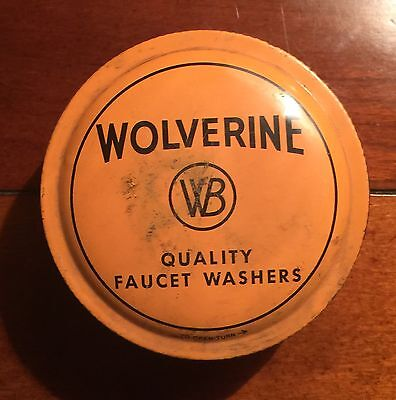 Vintage Wolverine Flat Faucet Washers Filled With Washers And Screws