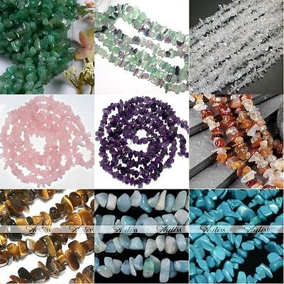Natural Crystal Rose Quartz Gemstone Freeform Chip Beads Charm Jewelry Findings
