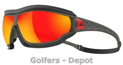 Adidas Brille a197 Tycane pro Outdoor S umber matt translucent 6055 red mirror