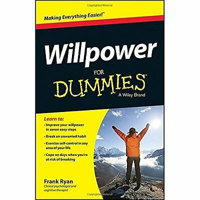 Willpower For Dummies - Frank Ryan(Auth NEW Paperback 11/07/2014