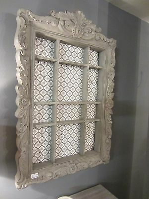 Large Wall Shelf Display Cabinet 100cm ornate French Shabby Chic Storage