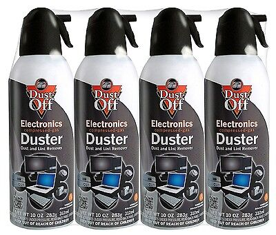 4 pk Falcon Compressed Air Gas Duster Cans Computer Dust Off 10oz Keyboard - New