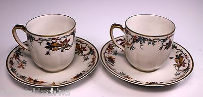 Theodore Haviland Limoges Schleiger 500-1 Demitasse Cup and Saucer - Set of 2