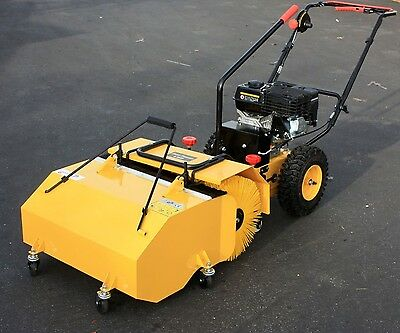 "31"" Walk Behind196cc 6.5HP Gas Power Sweeper W/Dust Collector Driveway Turf Lawn"