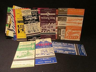 Matchbook Covers 30 Hotel Motel Ads 1950s/60s 18 Different Alberta Manitoba Sask