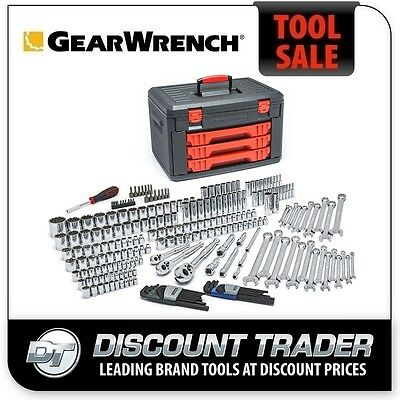 """GearWrench Mechanics 239Pc 1/4"""" 3/8"""" 1/2"""" Drive Metric & Imperial Tool Set 80942"""
