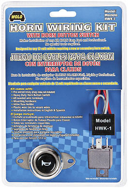 Wolo Horn Wiring Kit with Horn Button Switch HWK-1